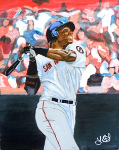 Barry Bonds in Acrylic