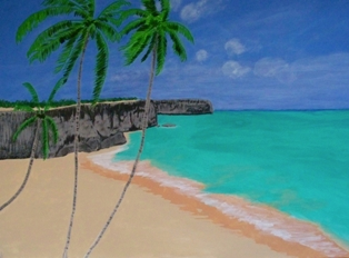 Bottom Bay Barbados Acrylic on canvas 40x30