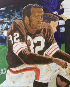 Jim Brown in Acrylic