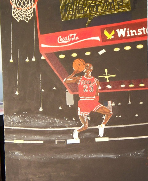 Air Jordan - Acrylic painting on 20 x 24 canvas.